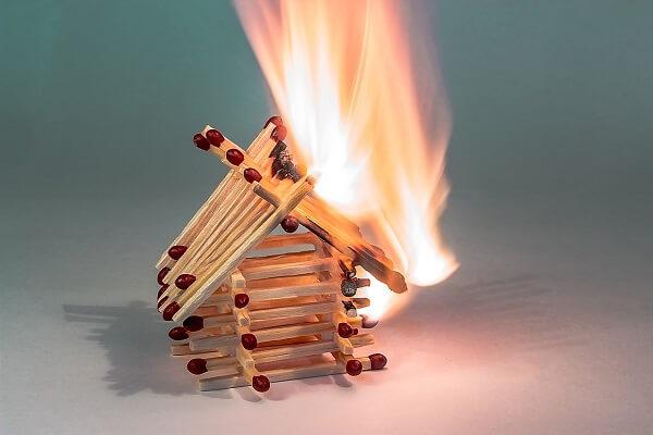 Match house fire